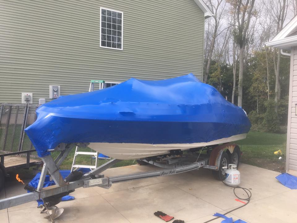 Winterized Boat by Hammer Down Marine LLC