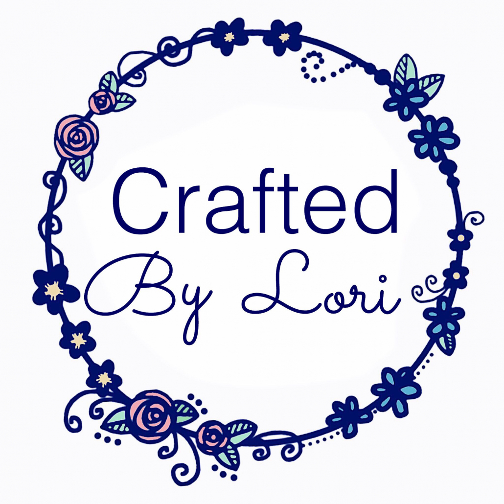 Crafted by Lori Logo Navy