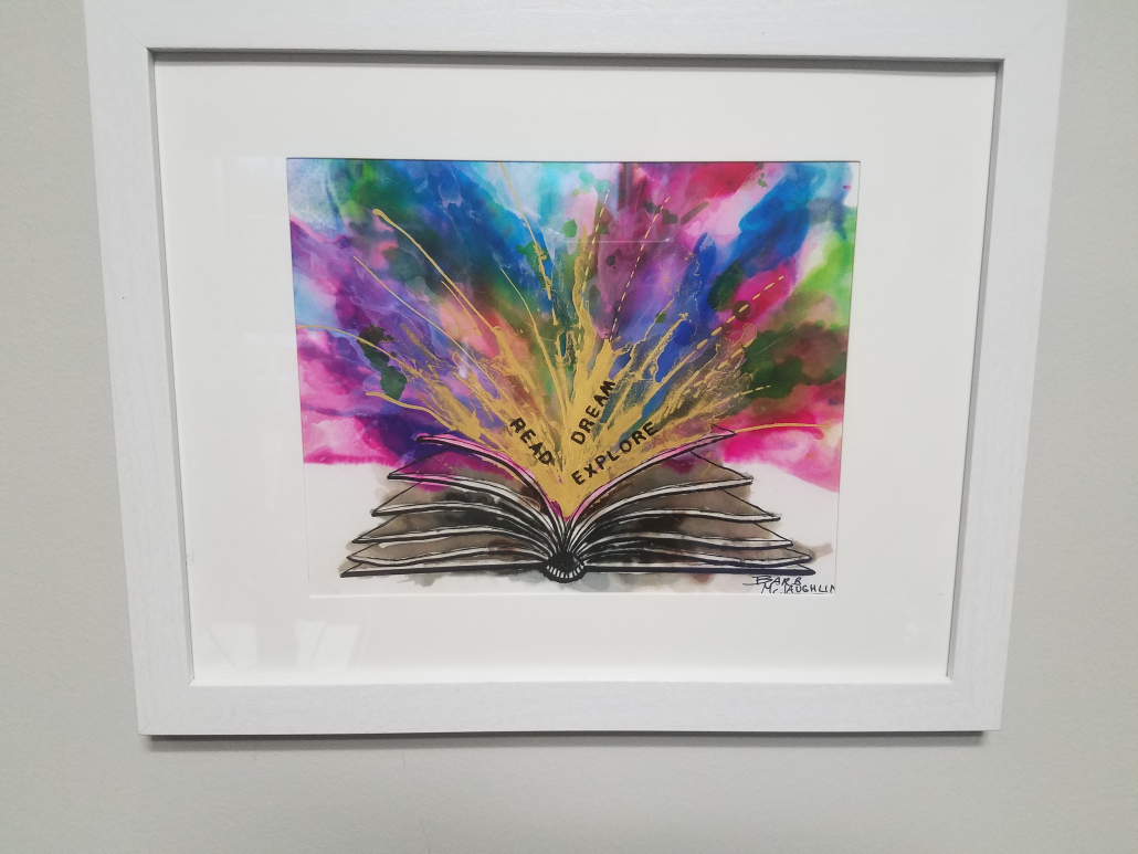 Universe In A Book Original Painting
