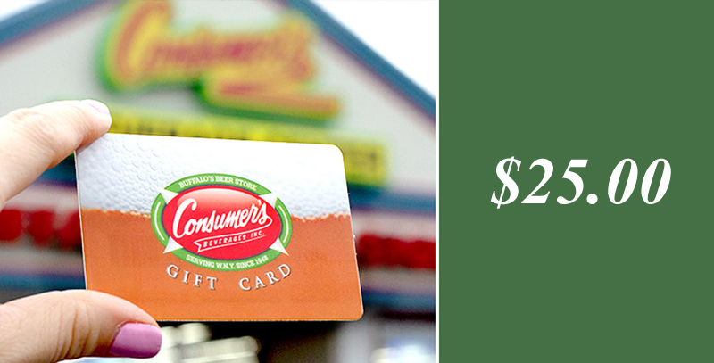 Consumer Beverages 25 Gift Card