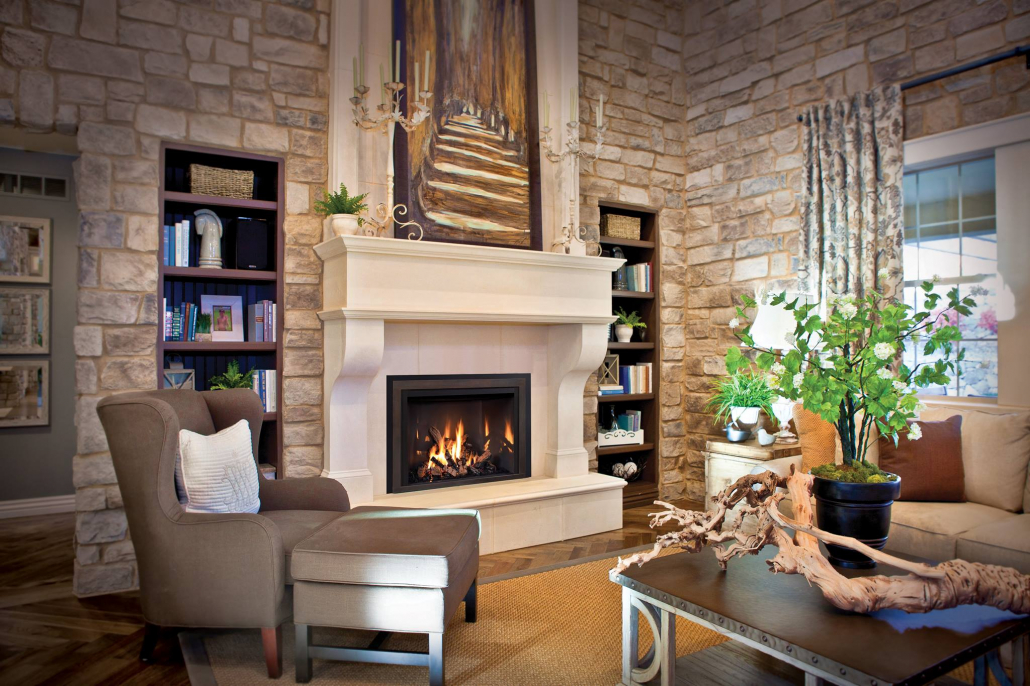 American Eagle Fireplace Living Room